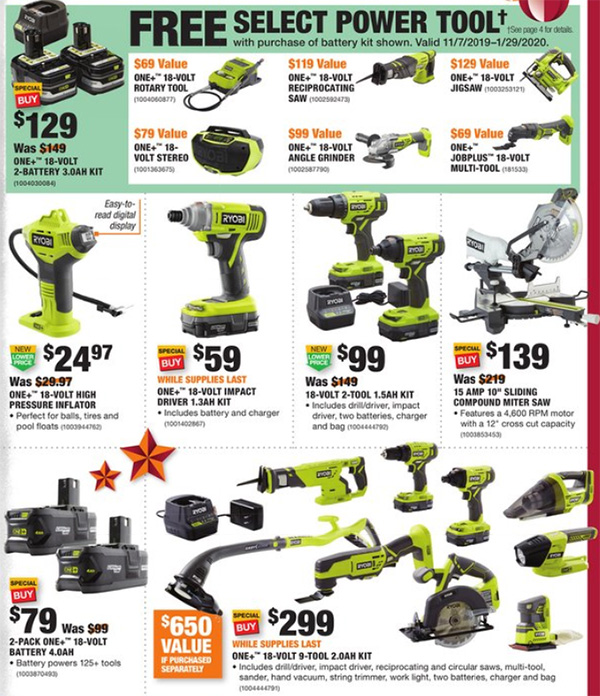 Home Depot Black Friday 2019 Official Tool Deals Page 5