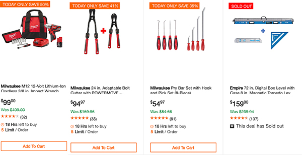 Home Depot Milwaukee Special Buy Tool Deals of the Day 11-13-19 Page 3