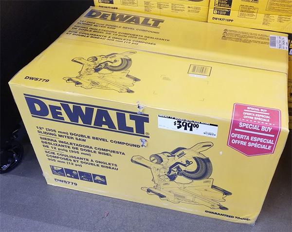 Home Depot Pro Black Friday 2019 Dewalt Miter Saw Deal
