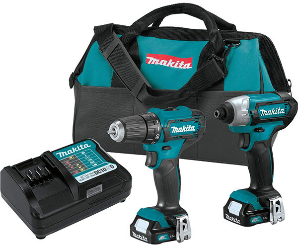 Makita CT232 12V Max CXT Cordless Drill and Impact Driver Combo Kit
