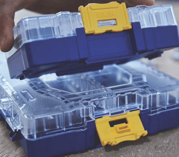New Stackable Irwin Clear Accessory Storage Cases