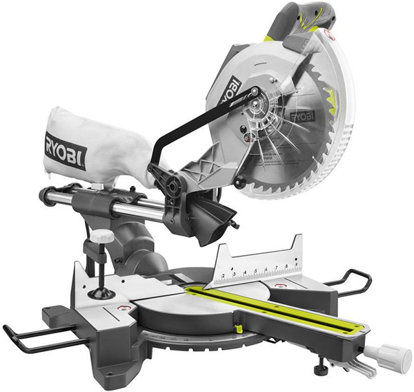 Ryobi TSS103 10 inch Miter Saw with LED Cutline Indicator