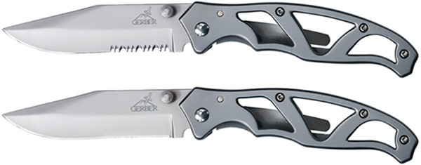Gerber I Paraframe Knives Plain Edge and Partially Serrated