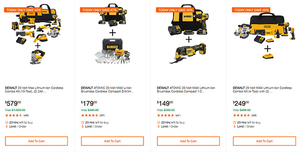 Home Depot Cyber Monday Dewalt Milwaukee Cordless Power Tool Deals Page 8