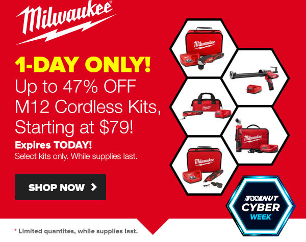 Tool Nut Cyber Wednesday 2019 Milwaukee M12 Cordless Power Tool Deals