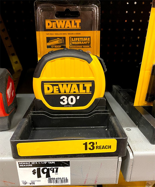 Dewalt Tape Measure with Reach Marketing
