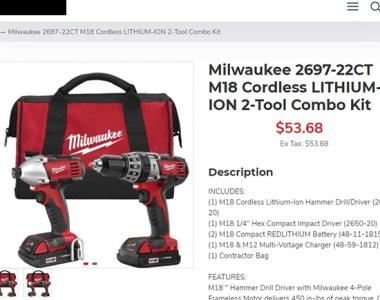 Milwaukee Cordless Power Tool Deal Scam