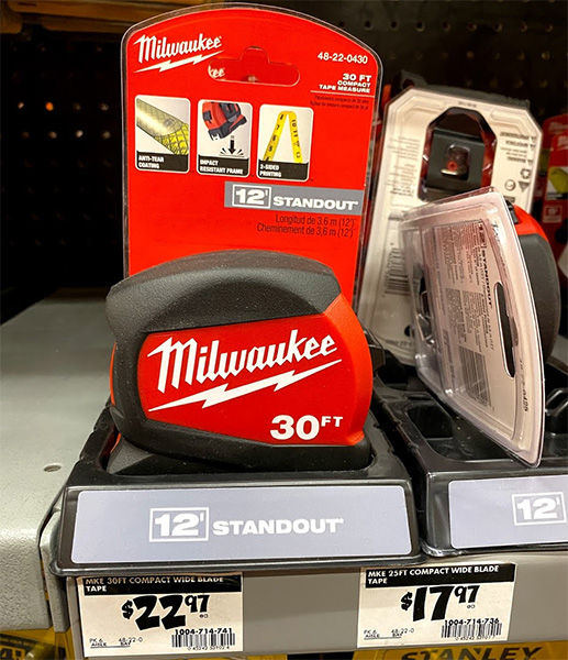 Milwaukee Tape Measure with Standout Marketing