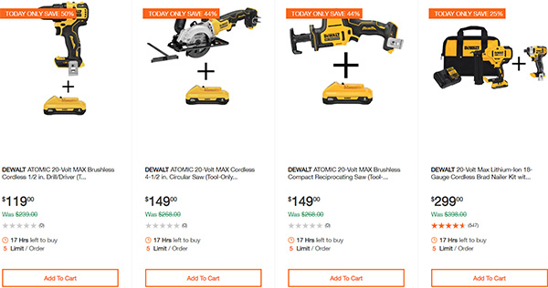 Dewalt Cordless Power Tool Deals Day 2-17-20 Page 5