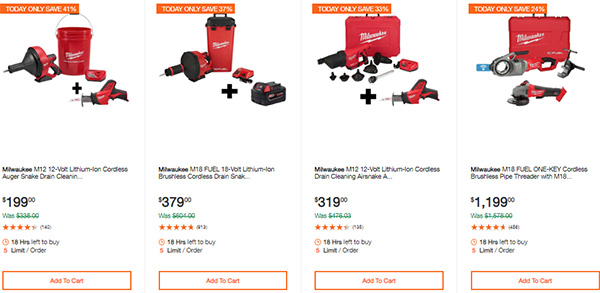 Milwaukee Cordless Power Tools Hand Tools Deal of the Day 2-24-20 Page 4