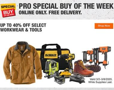 Home Depot Pro Tool Deals Week of 3-3-2020