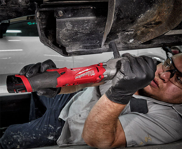 Milwaukee M12 Fuel Cordless Right Angle Impact Wrench Used Under Car