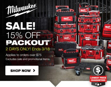 Milwaukee Packout Deal 3-18-20