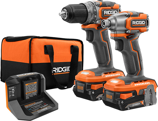 Ridgid 18V SubCompact Cordless Power Tools Launch 2020 Drill and Impact Driver Combo Kit
