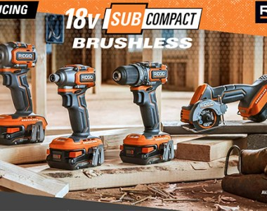 Ridgid 18V SubCompact Cordless Power Tools Launch 2020 Hero