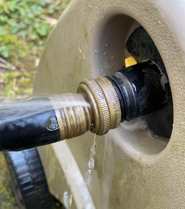 Leaking Garden Hose Reel