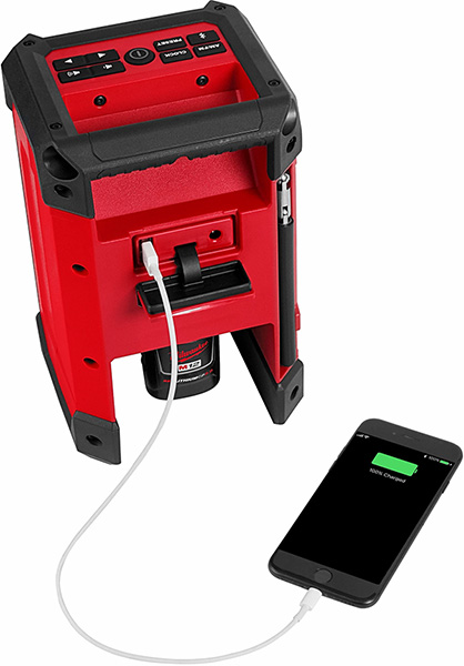 Milwaukee 2951-20 M12 Radio and Charger USB Smartphone Output