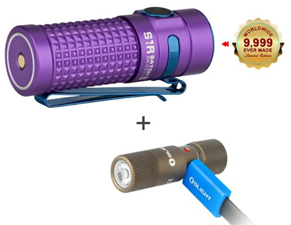 Olight S1R II and i1R LED Flashlight Bundle