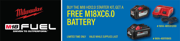 Milwaukee Tool Flash Sale 6-6-2020 M18 Battery Starter Set