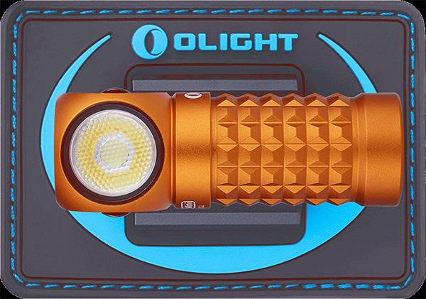 Olight Mini Perun LED Headlamp Orange with Backing