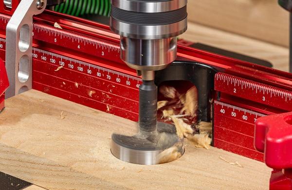 Woodpecker Pro Drill Press Table - Vacuum Port