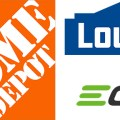Home Depot Lowes and EGO Logos