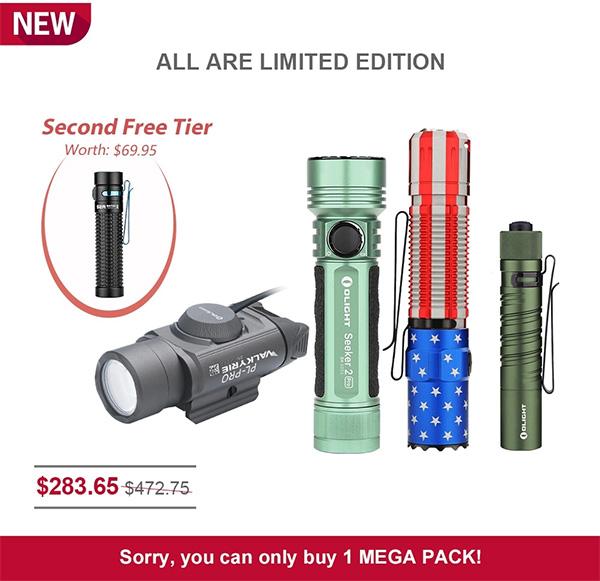 Olight Flashlight Flash Sale 7-20-20 Mega Pack