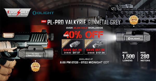 Olight Flashlight Flash Sale 7-20-20 Valkyrie Gunmetal Grey
