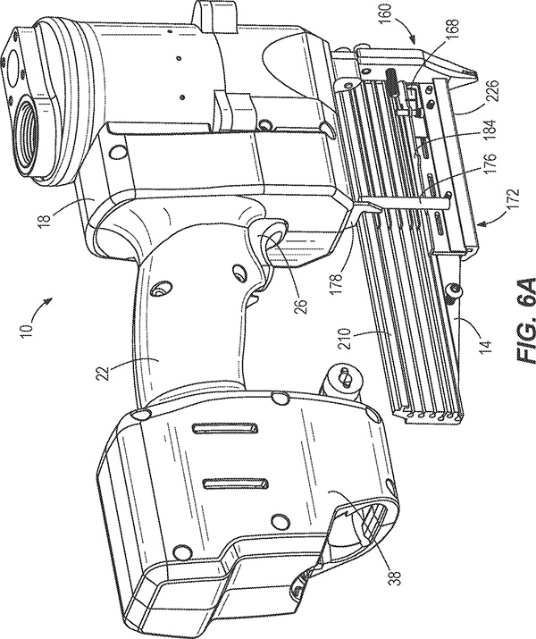 Milwaukee M12 Pin Nailer Patent Drawing