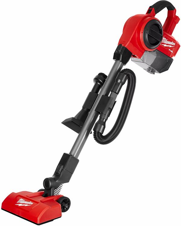 Milwaukee M18 Fuel Compact Vacuum Floor Brush Configuration with Accessory Storage