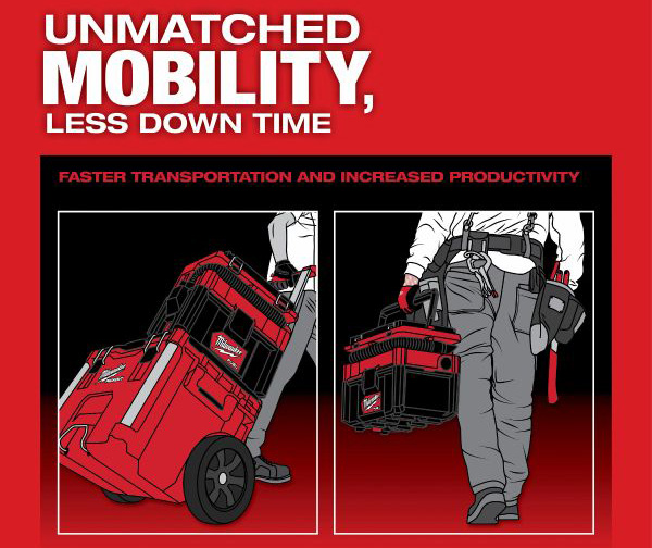 Milwaukee Packout Vacuum Mobility
