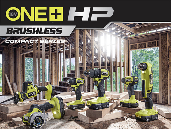 Ryobi 18V One HP Compact Brushless Cordless Power Tool Series