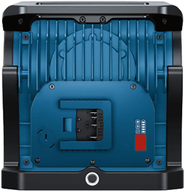 Bosch GLI18V-10000C Cordless LED Worklight Rear Controls
