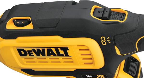 Dewalt Cordless Drywall Sander DCE800 Speed Control and Trigger