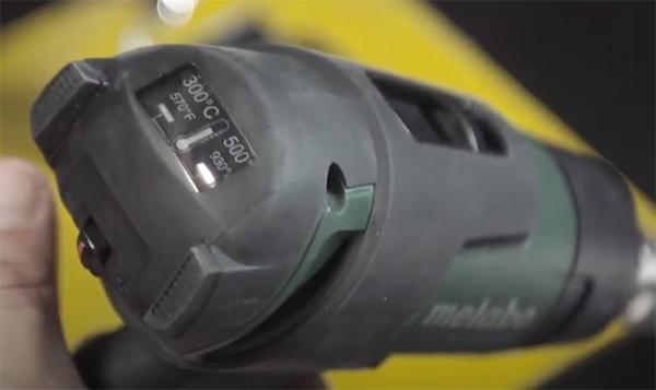 Metabo Cordless Heat Gun HG 18 LTX 500 Display