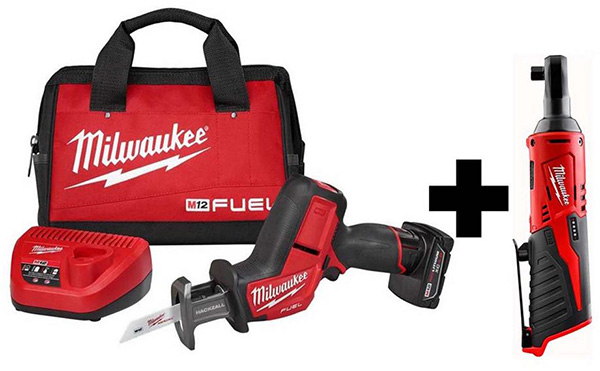 Milwaukee M12 Fuel Hackzall Saw and Ratchet Bundle