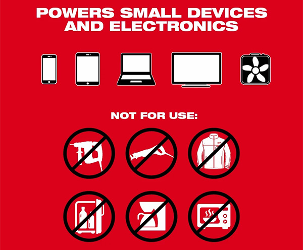 Milwaukee M18 Top-Off 2846-20 USB Power Adapter Applications