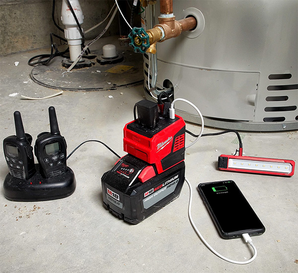 Milwaukee M18 Top-Off 2846-20 USB Power Adapter Charging Devices