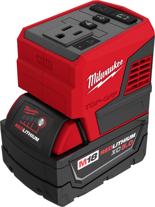 Milwaukee M18 Top-Off 2846-20 USB Power Adapter with XC 5Ah Battery