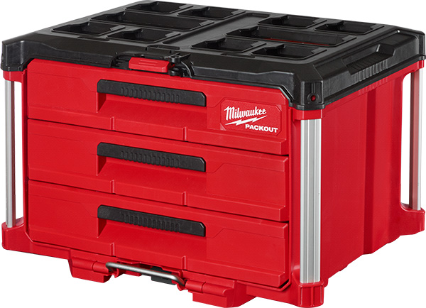 Milwaukee Packout 3-Drawer Tool Box