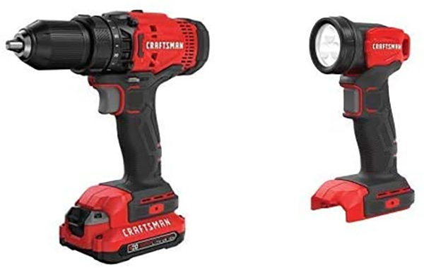 Craftsman Drill Kit and LED Worklight Amazon Prime Day 2020 Bundle