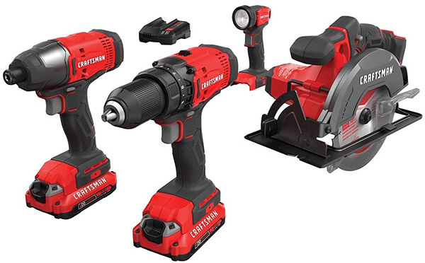 Craftsman V20 4pc Cordless Power Tool Combo Kit