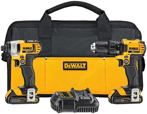 Dewalt DCK280C2 Cordless Drill and Impact Driver Combo Kit
