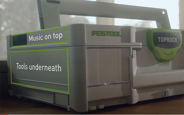 Festool TopRock Systainer Bluetooth Speaker Sections