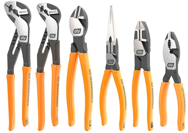 Gearwrench Pitbull Pliers 6pc Set Dripped Handles