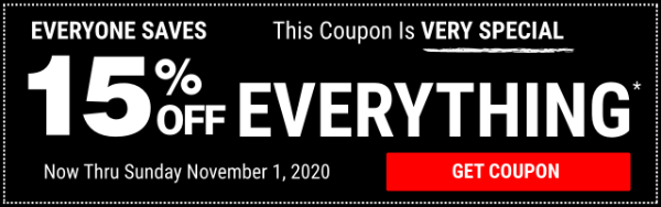 Harbor Freight 15 Percent Off Everything Coupon Hero