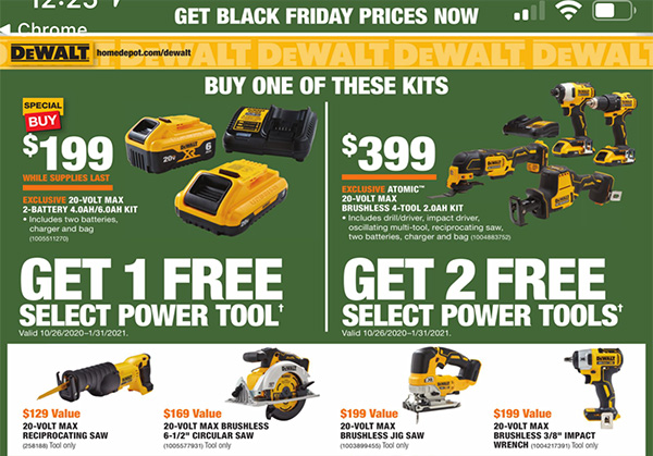 Home Depot Black Friday 2020 Tool Deals Page 7