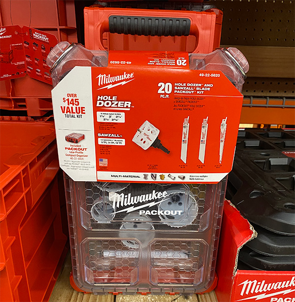 Home Depot Holiday 2020 Milwaukee Packout Organizer with Saw Blades Bundle