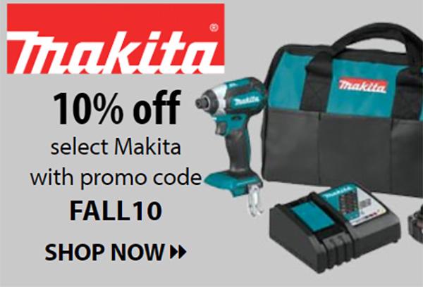 Makita 10% Flash Sale 10-21-2020
