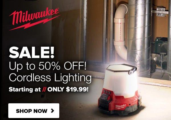 Milwaukee LED Lighting Deal Tool Nut 10-1-2020